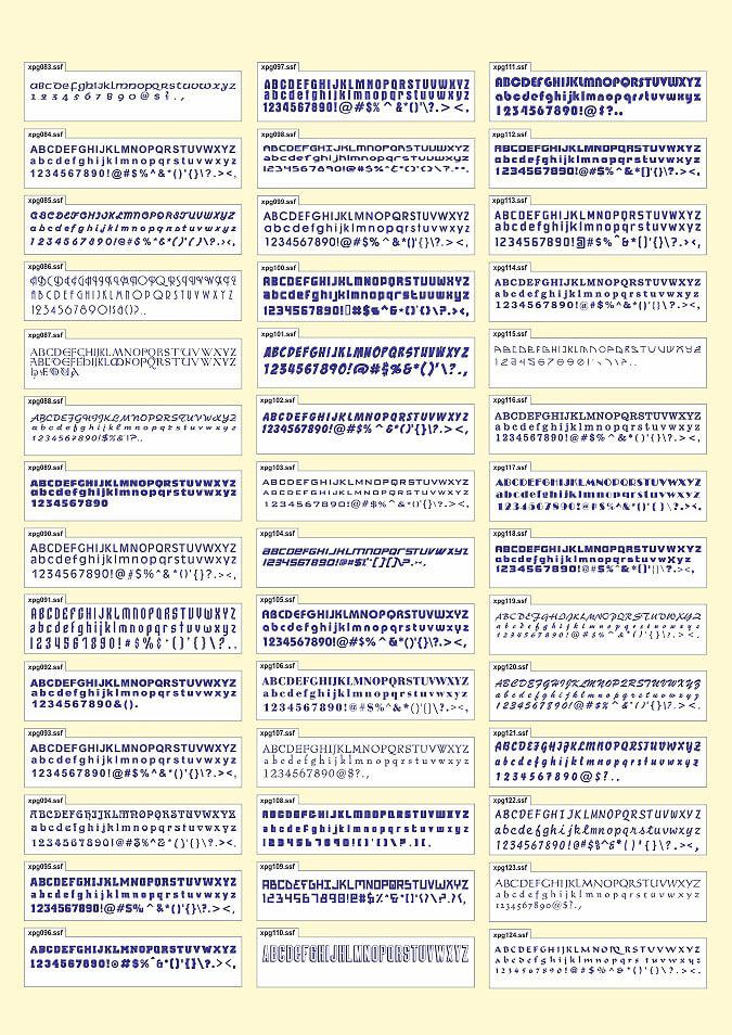 Font catalog 6
