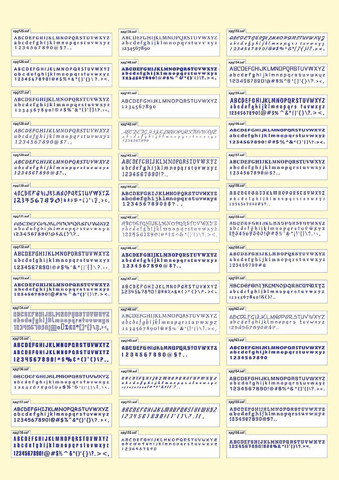 Font catalog 3