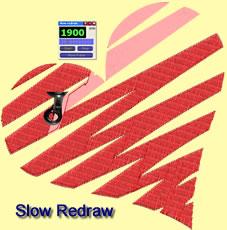 Slow redraw