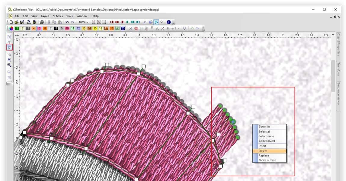 Complete stitch editor